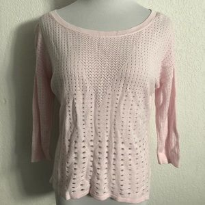 Light pink light weight sweater!